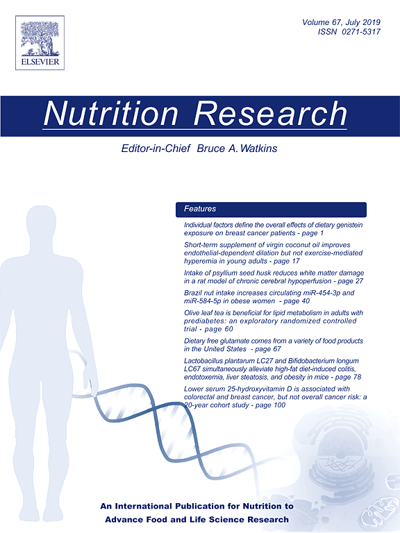 Cover image of High dietary intake of whole milk and full-fat dairy products does not exert hypotensive effects in adults with elevated blood pressure