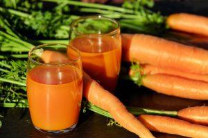 Orange juice with carrots